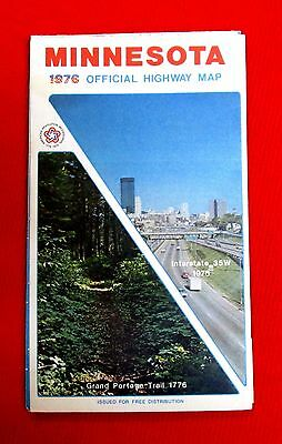 1976 Minnesota Official Highway Map meac10