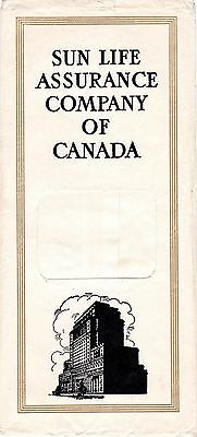 Sun Life Assurance Company of Canada Insurance Policy Envelope 1950s meac12