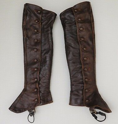 Childrens vintage leather gaiters spats 1930s Timpsons Lovely condition