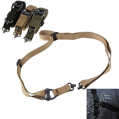 "Retro New Tactical Quick Detach QD 1 or 2 Point Multi Mission 1.2"" Rifle Sling"