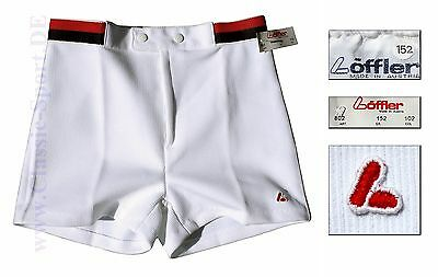 T-128) orig. 80er LÖFFLER (AT) Tennis Shorts Kids 140-146 NEU