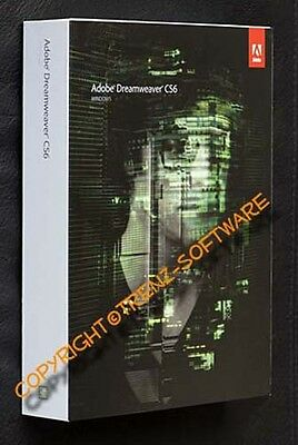 Adobe Dreamweaver CS6 Windows deutsch Vollversion - Box mit DVD - MwSt CS 6