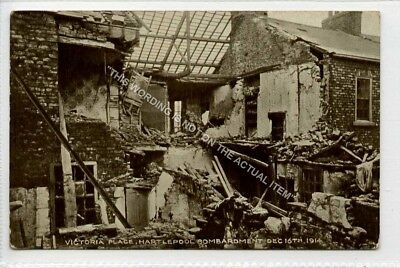 (Ld5432-168) Victoria Place, HARTLEPOOL, Bombardment 1914  Unused VG