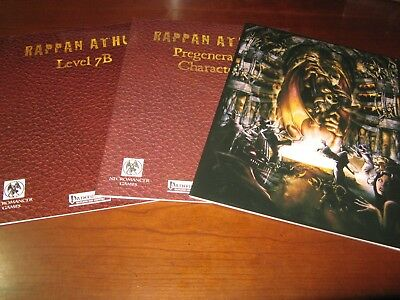 Rappan Athuk lot Level 7B/Characters/GM Screen NEW Pathfinder/S&W D&D rpg