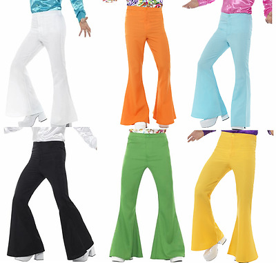 Mens 70S Disco Dance Fever Flared Bell Bottom Costume Pants Saturday Night