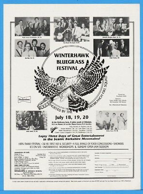 1986 Winterhawk Bluegrass Tremont City OH Quicksilver Ralph Stanley Hot Rize Ad