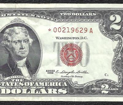 1963 $2 RED Seal *STAR* Legal Tender *UNITED STATES NOTE* Old US Paper Money!