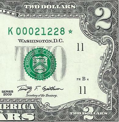 2009 $2 STAR  *DALLAS* only 512,000! LOW Serial! 1of2