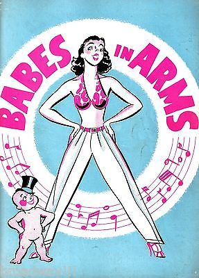 "Rodgers & Hart ""BABES IN ARMS"" Mitzi Green / Nicholas Brothers 1937 Program"