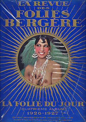 """FOLIES BERGERE"" starring JOSEPHINE BAKER in Paris, France 1926 Souvenir Program"