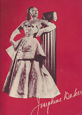 """Direct From Paris"" JOSEPHINE BAKER First American Tour 1951 Souvenir Program"