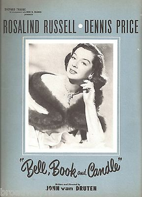 """Rosalind Russell """"BELL, BOOK and CANDLE"""" Dennis Price 1952 Souvenir Program"""