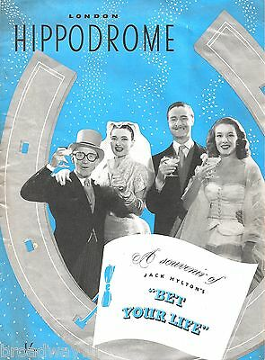 "Julie Wilson ""BET YOUR LIFE"" Arthur Askey / Sally Ann Howes 1952 London Program"