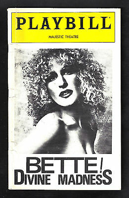"BETTE MIDLER Broadway ""DIVINE MADNESS"" Bruce Vilanch 1979 Preview Playbill"
