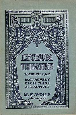 """D.W. Griffith """"BIRTH OF A NATION"""" Lillian Gish 1916 Rochester, New York Program"""