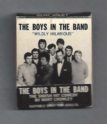 """Mart Crowley """"THE BOYS IN THE BAND"""" Obscenity Charges 1970 Australian Matchbook"""