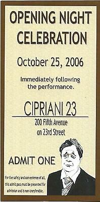 "Nathan Lane ""BUTLEY"" Dana Ivey / Simon Gray 2006 Opening Night Party Ticket"