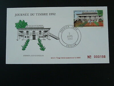 post office stamp day FDC Ivory Coast 1982