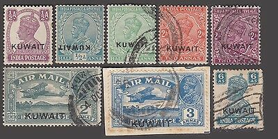 Kuwait Over Print On India Kg Vi 8 Used Values With Variety