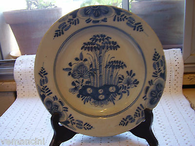 18Th ,  Delft Blue And White Plate