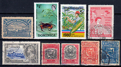 DOMINICA & Rep. DOMINICANA / British colonies ☀ small collection of 9 stamps