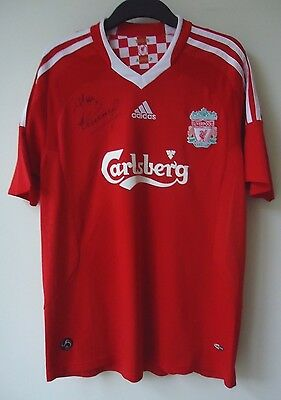 Liverpool  Football   Shirt By Adidas  Signed By Allan Kennedy