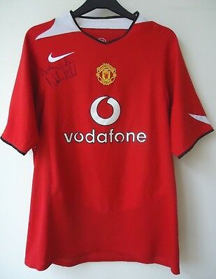Manchester United  Football Shirt By Nike  Size L Signed By Norman Whiteside