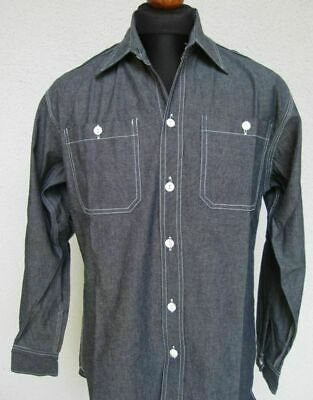Worker Shirt Chambray Hemd 1937 Lutece Army Navy Heritage Rugged Wear WK2 WW2
