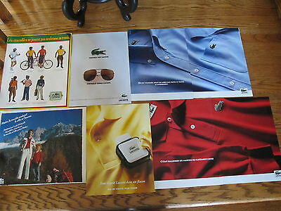 Lacoste Lot Vintage Print Ads,clippings Last Chance!
