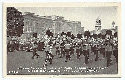 Queen's Guard Band at Buckingham Palace Unused Postcard 1950s?