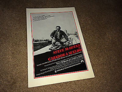HUNTER 1980 Movie Brochure Pressbook Steve McQueen Chicago Bounty Hunter Action