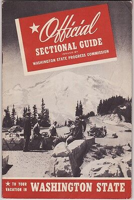 1940's Washington State Sectional Guide Booklet