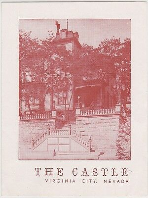 1950's The Castle Virginia City Brochure