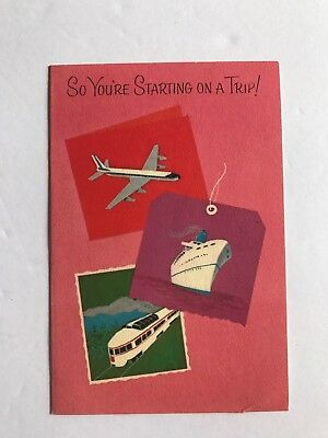 Vintage Travel Greeting Card