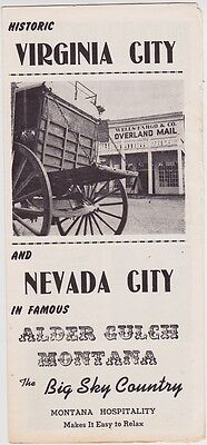 1940's Historic Virginia City Promotional Brochure