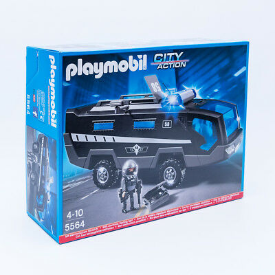 playmobil 5564 sek einsatztruck mit licht sound polizei. Black Bedroom Furniture Sets. Home Design Ideas
