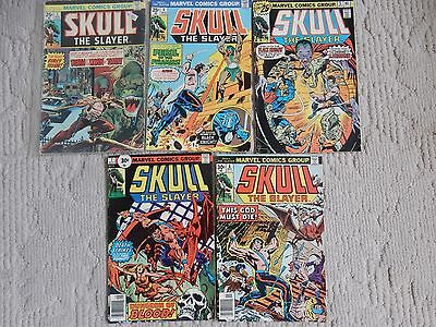 Marvel Comics Skull The Slayer 5 Issue Lot #1,4,5,7,8 Fine To Very Fine Cond