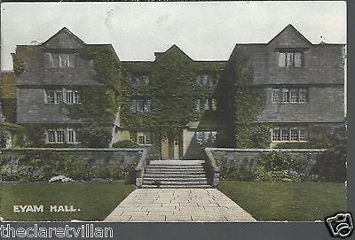 Eyam Hall  _ Old Unposted Postcard