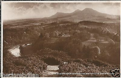 Eildons from Bemersyde Sir Walter Scott's View  Unposted Postcard
