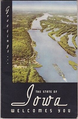 1952 Iowa State Tourism Promotional Booklet