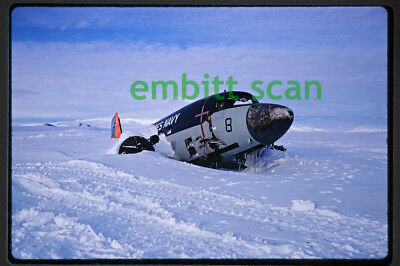 Original Slide, Crashed Navy Douglas LC-47H Skytrain in Antarctica, 1968