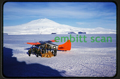 Original Slide, Navy VX-6 de Havilland Canada UC-1 Otter Skis, 1956 Antarctica