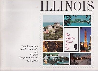 1968 Illinois State Sesquiceentennial Promotional Booklet