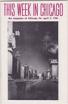 1956 This Week In Chicago Events Booklet