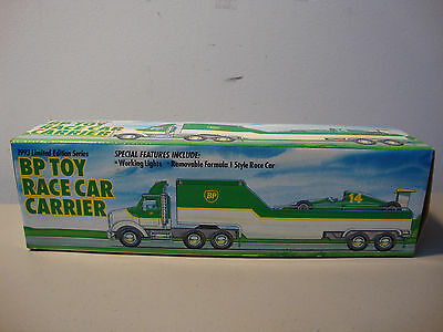 1993 Bp Toy Race Car Carrier   *nib*   Fast/same Day Shipping   L@@k
