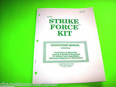 STRIKE FORCE By MIDWAY 1991 ORIGINAL VIDEO ARCADE GAME SERVICE REPAIR MANUAL