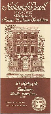 1960's The Nathaniel Russell House Charleston Brochure