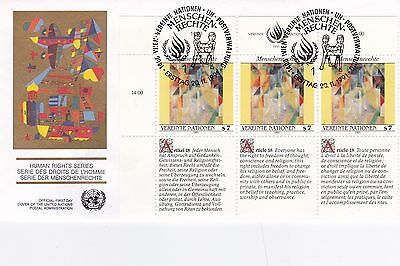 United Nations 1991 Human Rights Series Unadressed(2) FDC