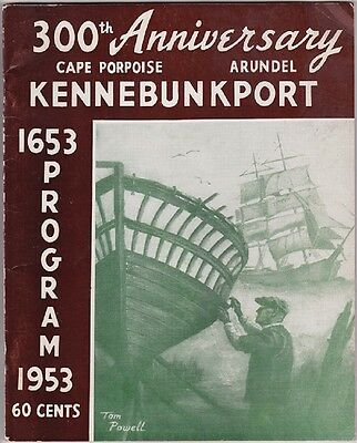 1953 300th Anniversary Of Kennebunkport Booklet