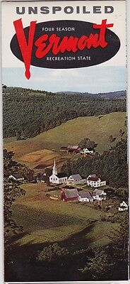 1959 Unspoiled Vermont Promotional Tourism Brochure